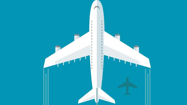 ブロックチェーンと航空業のイメージ画像