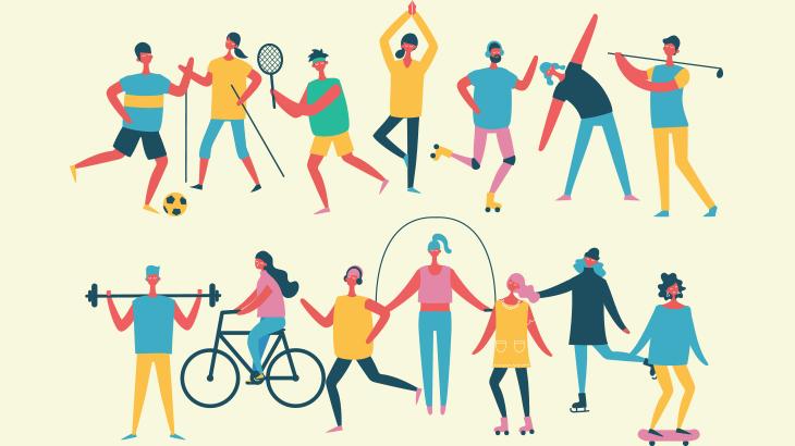 ブロックチェーンとスポーツのイメージ画像