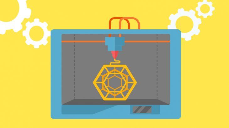 3Dプリンターとブロックチェーン技術のイメージ画像