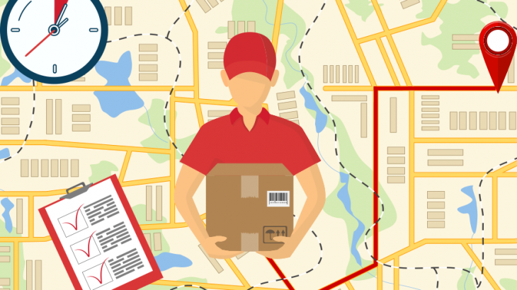 トラック運送とブロックチェーンのイメージ画像