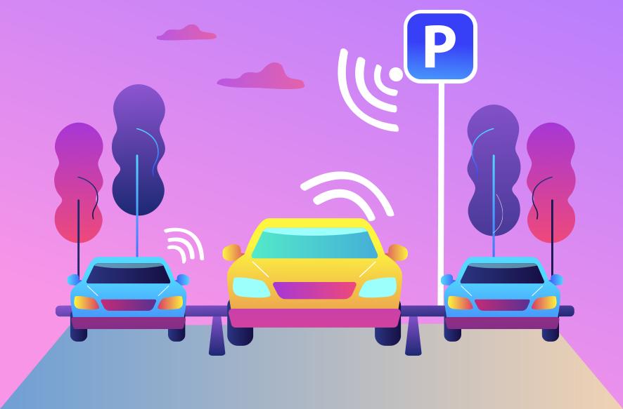 駐車場と車が通のイメージ画像