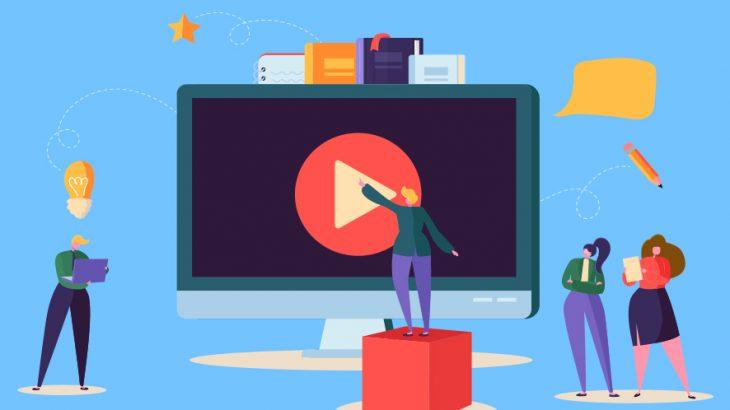 ビデオストリーミングとブロックチェーンイメージ画像