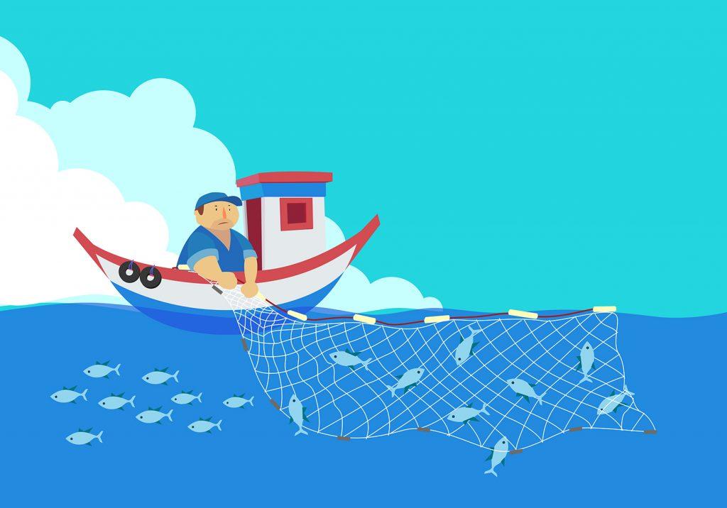 漁業とブロックチェーンのイメージ画像です