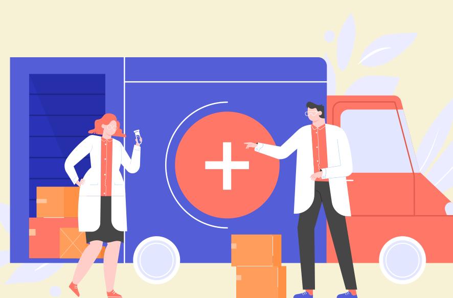 医薬品の輸送イメージ画像
