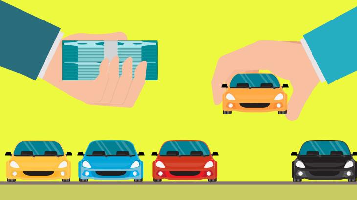 車販売とブロックチェーンのイメージ画像