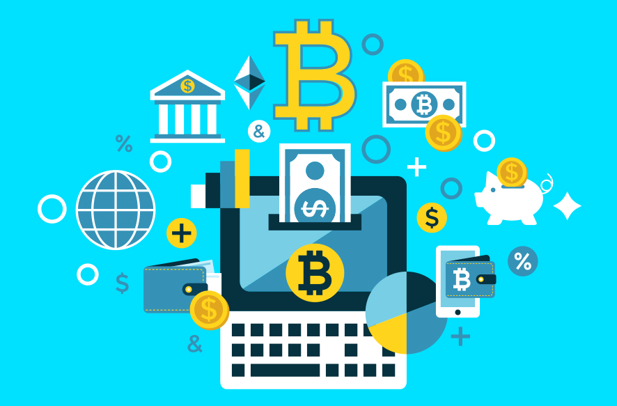 暗号通貨とブロックチェーンのイメージ画像