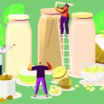 穀物と人のイメージ画像
