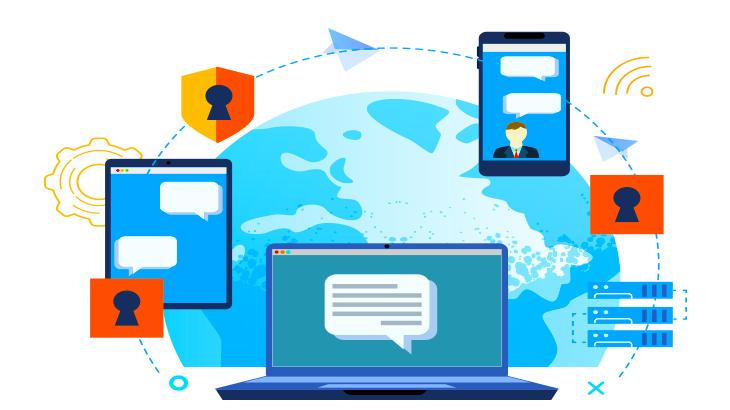 メッセージとブロックチェーンのイメージ画像