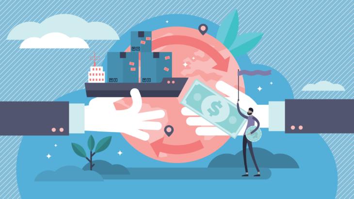 船舶と貿易のイメージ